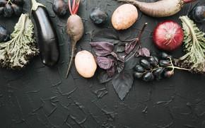 Картинка зелень, ягоды, виноград, овощи, свекла