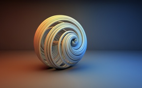 Картинка фон, шар, минимализм