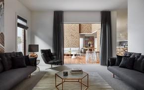 Картинка интерьер, гостиная, столовая, жилое пространство