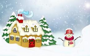 Картинка Święta, Bałwan, Zima