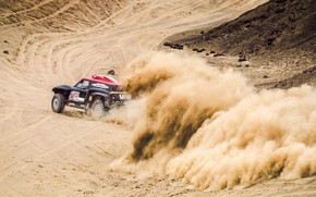 Картинка Песок, Mini, Спорт, Пустыня, Скорость, Rally, Dakar, Дакар, Ралли, Buggy, Багги, X-Raid Team, MINI Cooper, …