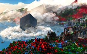 Картинка кубы, фигуры, Blocky