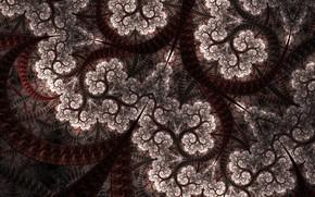 Картинка абстракция, узор, коричневый