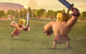 Картинка sword, game, man, fight, ken, blade, barbarian, Clash Of Clans
