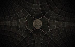Картинка Фон, Темный, Серый узор