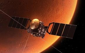 Обои сигнал передача данных, орбитальная станция, космос, съемка вселенной, красотища, wallpaper., звездного поля, атмосфера, исследовательский зонд, ...