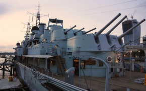 Обои музей, Лондон, калибр, крейсер, корабль, главный, Белфаст