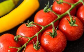 Картинка капли, перец, помидоры, томаты