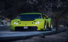 Картинка Lamborghini, Car, Race, Green, GT3, Day, Huracan