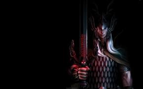 Картинка меч, воин, фэнтези, арт, маг, Элрик VIII, 428-й император Мелнибонэ, Elric of Melnibone, Science Fantasy, ...