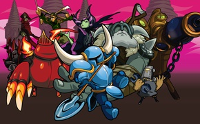 Картинка Games, Art, Platform, Retro, Cartoon, Character, Shovel Knight