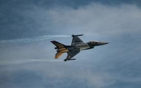 Картинка истребитель, Fighting Falcon, General Dynamics, F16