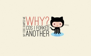 Картинка programming, code, GitHub, git, octocat
