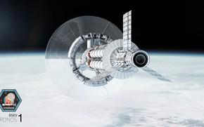 Картинка космос, планета, полёт, аппарат, Kronos 1 - WIP 1