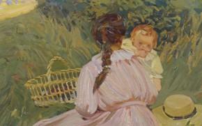 Картинка картина, жанровая, Доротея Шарп, Dorothea Sharp, Воскреный Пикник