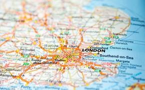 Картинка map, London, England