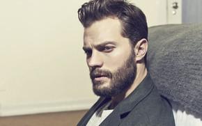 Картинка взгляд, борода, мужчины, красивый, Jamie Dornan