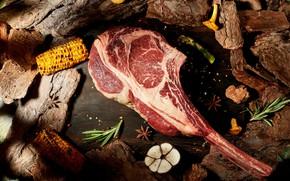 Картинка кукуруза, мясо, чеснок