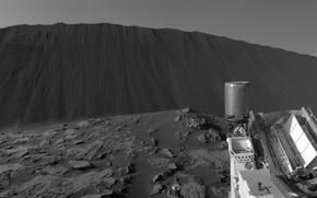 Обои Кьюриосити, планета, марсоход, НАСА, Марс, дюны