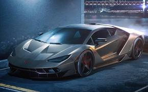 Обои Italian, Centenario, Silver, Front, Lamborghini, Superar