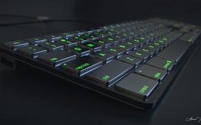 Картинка кнопки, клавиатура, шнур, Metallic KeyBoard