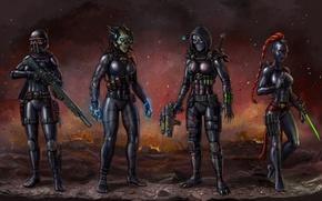 Картинка девушка, фантастика, арт, убийцы, Warhammer 40k, WH40K, Imperial Assassins