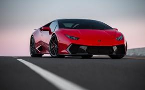 Обои Lamborghini, Italia, RED, VAG, Huracan, Novara