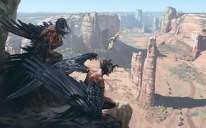 Картинка горы, фэнтези, Found KEYFRAME CONCEPT ART, Ancient Civilizations: Lost, Sergey Avtushenko