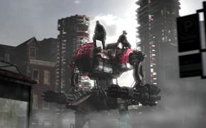 Картинка город, транспорт, здания, titan, The Patrol
