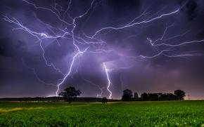Картинка природа, стихия, молнии