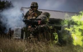 Обои солдаты, выстрел, Карл Густав, ручной противотанковый гранатомёт