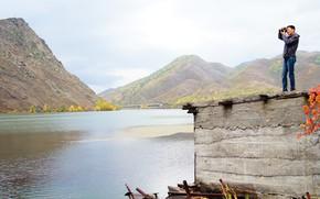 Картинка осень, вода, река, фотограф, казахстан, иртыш
