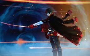 Картинка меч, аниме, парень, Fate / Grand Order