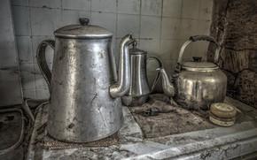 Картинка фон, столовая, чайники
