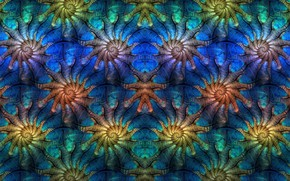 Обои abstract, Fractal, digital art, symmetry, pattern