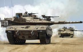 Обои основной боевой танк, Израиль, Меркава Mk.4, колесница