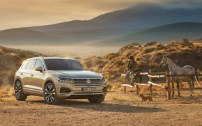 Обои TDI, Volkswagen, Touareg, 2018, ранчо, Atmosphere