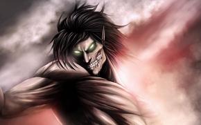 Картинка аниме, арт, Титан, Shingeki no Kyojin, Эрен, Атака титанов, Вторжение гигантов