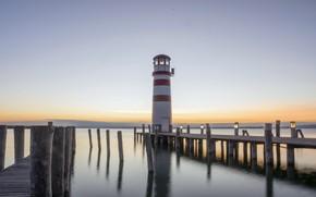 Картинка море, берег, Podersdorf Lighthouse