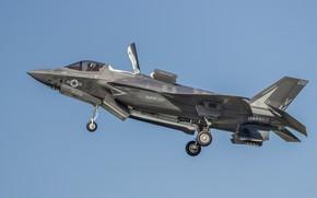 Обои F35B, оружие, самолёт