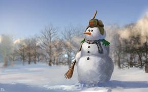 Обои Denis Loebner, Winter Soldier, Зимний солдат, снеговик, зима