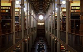Картинка здание, книги, библиотека, свод, Library