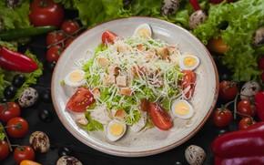 Картинка яйца, сыр, перец, овощи, помидоры, салат