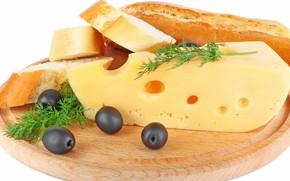 Картинка еда, завтрак, сыр, хлеб, разделочная доска