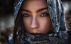 Картинка girl, art, portrait, arabian girl, tomas barkauskas, tomas bark