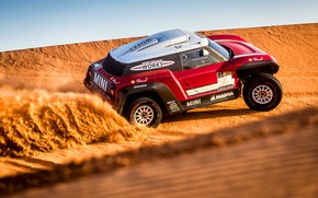 Картинка Песок, Mini, Спорт, Пустыня, Машина, Скорость, Rally, Dakar, Дакар, Ралли, Дюна, Buggy, Багги, X-Raid Team, …