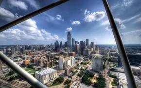Обои панорама, город, здания, Dallas