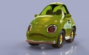 Обои арт, Cartoon Cherry Red Stylized Car, Jonathan Israel Johnson, детская, машинка