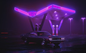 Обои Synthpop, Synth, Retrowave, Dodge Charger RT 1970, Ретро, Dodge, Авто, Dodge Charger, Машина, Neon, Synth ...