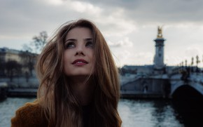 Картинка город, улыбка, макияж, Paris, губки, Charles Mudet